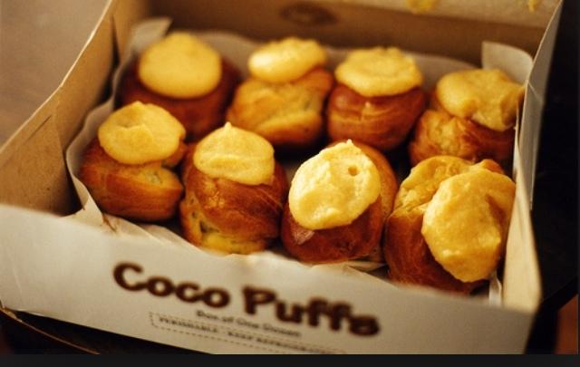 A box of Coco Puffs